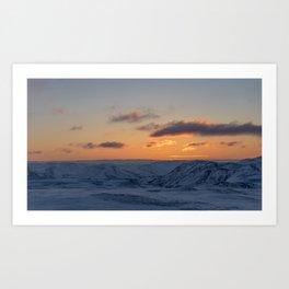 Sunrise at the Northcape Art Print