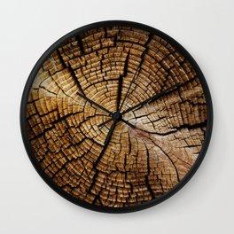 Ol' and weathered log Wall Clock