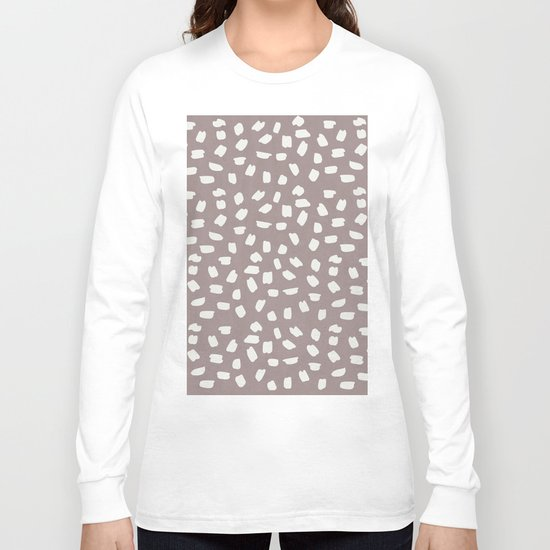 Simply Ink Splotch Lunar Gray on Red Earth Long Sleeve T-shirt