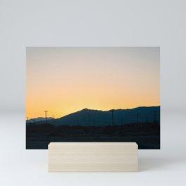 Mountains near Salton City Mini Art Print