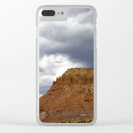 Buttes of New Mexico - On the Road to Santa Fe, No. 3 Clear iPhone Case