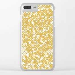Spicy Mustard Pixels Clear iPhone Case