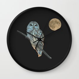 Owl, See the Moon Wall Clock