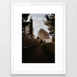 Cozy Cannon Beach, Oregon Framed Art Print