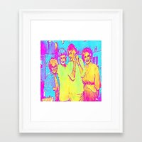 golden girls Framed Art Prints featuring Golden Girls by americanmikey