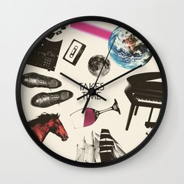 Jim Guthrie Takes Time 80s Design Wall Clock