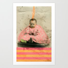 The Future's Fluo King Art Print
