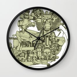 Motorcycle Engine Anatomy Wall Clock