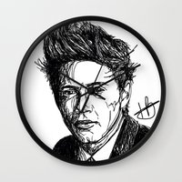 niall horan Wall Clocks featuring Niall Horan by Hollie B