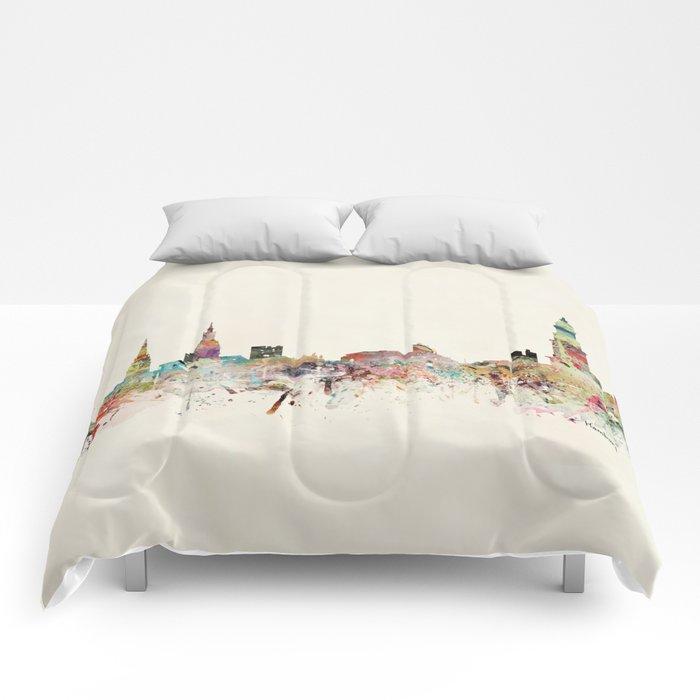 hamburg germany skyline Comforters