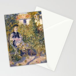 """Auguste Renoir """"Nini in the Garden"""" Stationery Cards"""