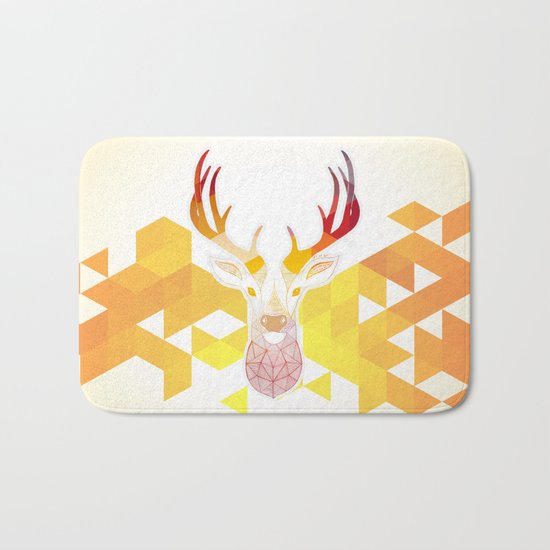 Colored Deer  Bath Mat