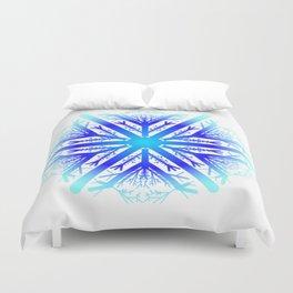 Blue Snowflake Design Duvet Cover