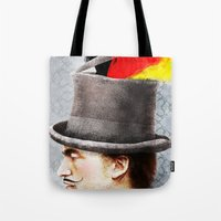 german Tote Bags featuring German by Francesca Cosanti