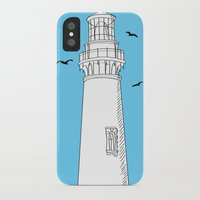 lighthouse iPhone & iPod Cases featuring Lighthouse by Janko Illustration