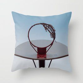 Shooting Hoops Throw Pillow