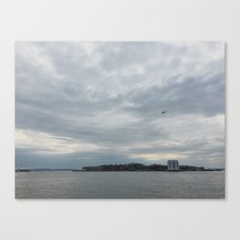 Clouds Over Governor's Island Canvas Print