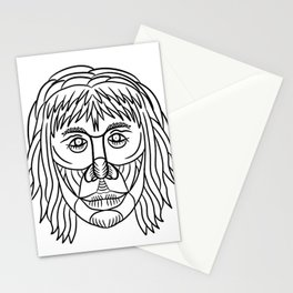 Homo Habilis Face Front Drawing Stationery Cards
