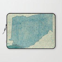 Georgia Map Blue Vintage Laptop Sleeve