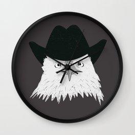 Eagle Cowboy Hipster Wall Clock