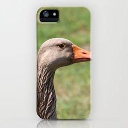 Goose Close Up iPhone Case