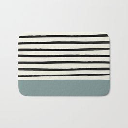 River Stone & Stripes Bath Mat