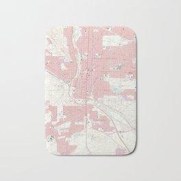 Vintage Map of Colorado Springs CO (1961) 2 Bath Mat
