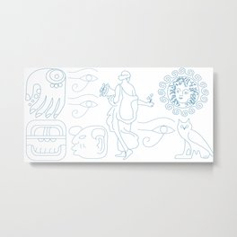 Symbolic art of mythology and folklore Metal Print
