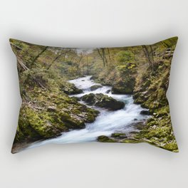River in Bled, Slovenia. Rectangular Pillow