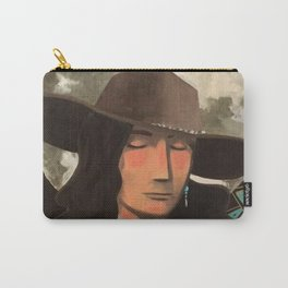 Portrait of A Southwestern Traveler with The Moon & Geometric Shapes In The Background Carry-All Pouch