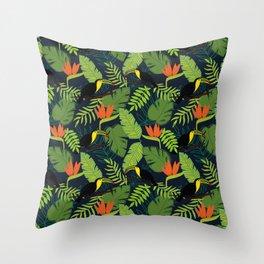 Jungle Toucan Throw Pillow