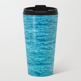 Red Life Buoy In The Middle Of The Wide Ocean Travel Mug