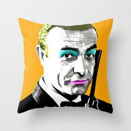 Ooh Ooh Seven - Orange Throw Pillow