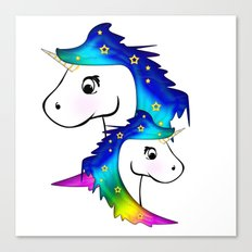 Unicorn and child Canvas Print