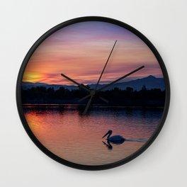 Quarry Lakes Sunrise 2 Wall Clock
