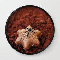 chocolate Wall Clocks featuring Chocolate by LebensART Photography