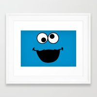 cookie monster Framed Art Prints featuring Cookie Monster by Adel