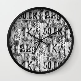 Label for weight Wall Clock