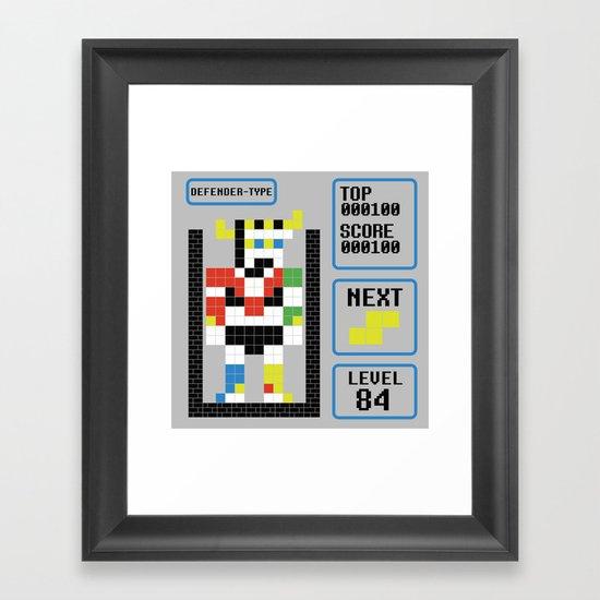 TETRIS: Defender Type Framed Art Print