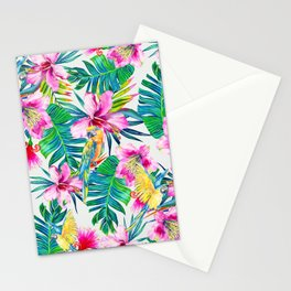 Parrot Beach Stationery Cards