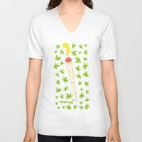 jamaica V-neck T-shirts featuring Jamaica Stuff by GEEFROG