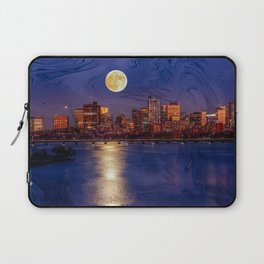Moon light night, Boston MA Laptop Sleeve