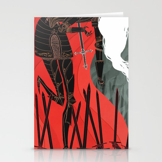 Knight of Swords Stationery Cards