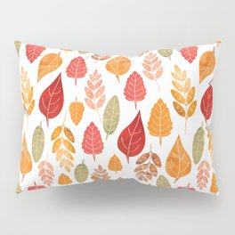 Painted Autumn Leaves Pattern Pillow Sham