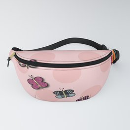 Butterfly And Polka Dot Series Fanny Pack