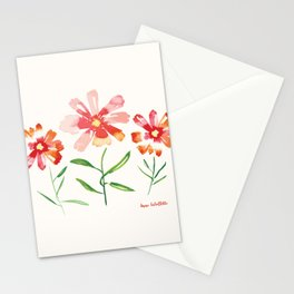 Orange and Red Cosmos Stationery Cards