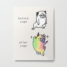 After Yoga Metal Print