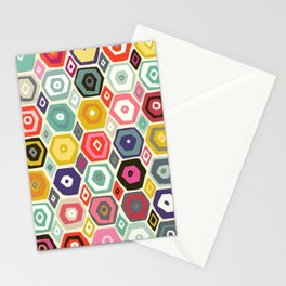 hex summer Stationery Cards