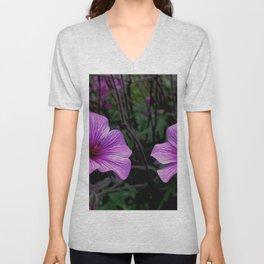 Pink Hibiscus Unisex V-Neck