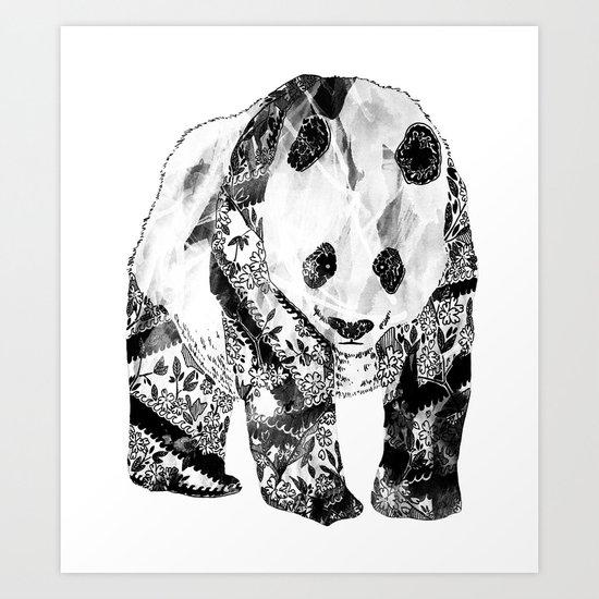 Tattooed Panda Art Print